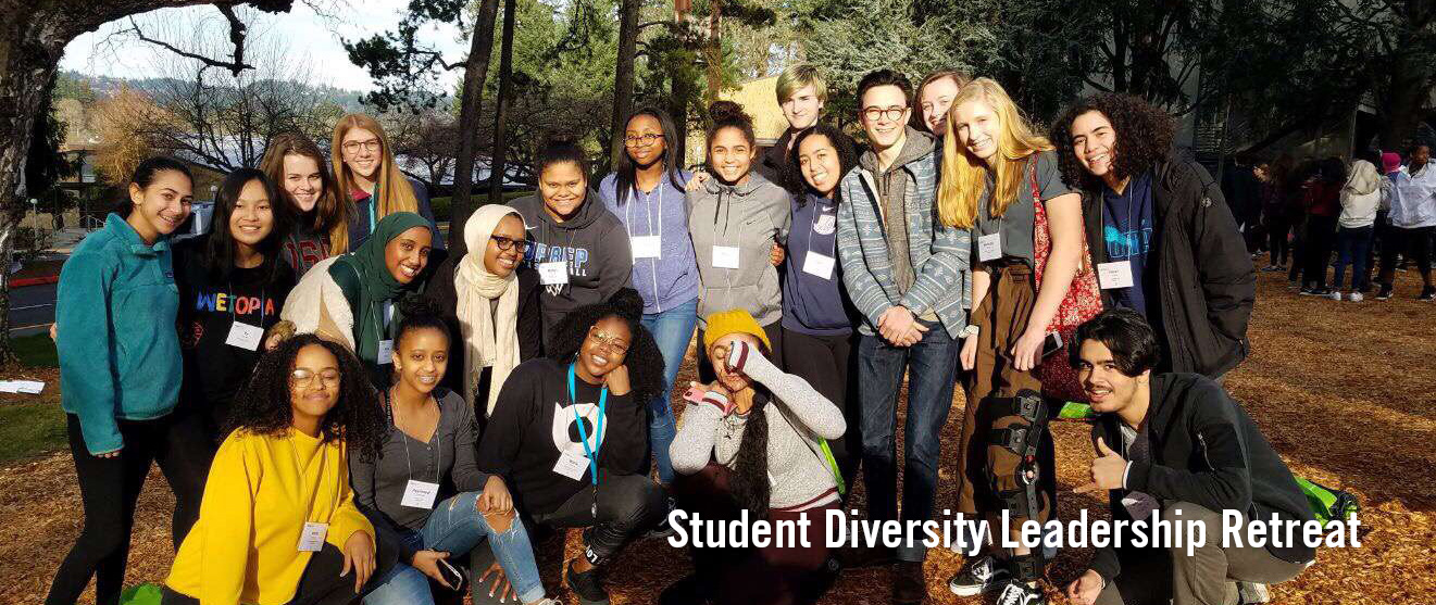 Students at the Diversity Leadership Retreat