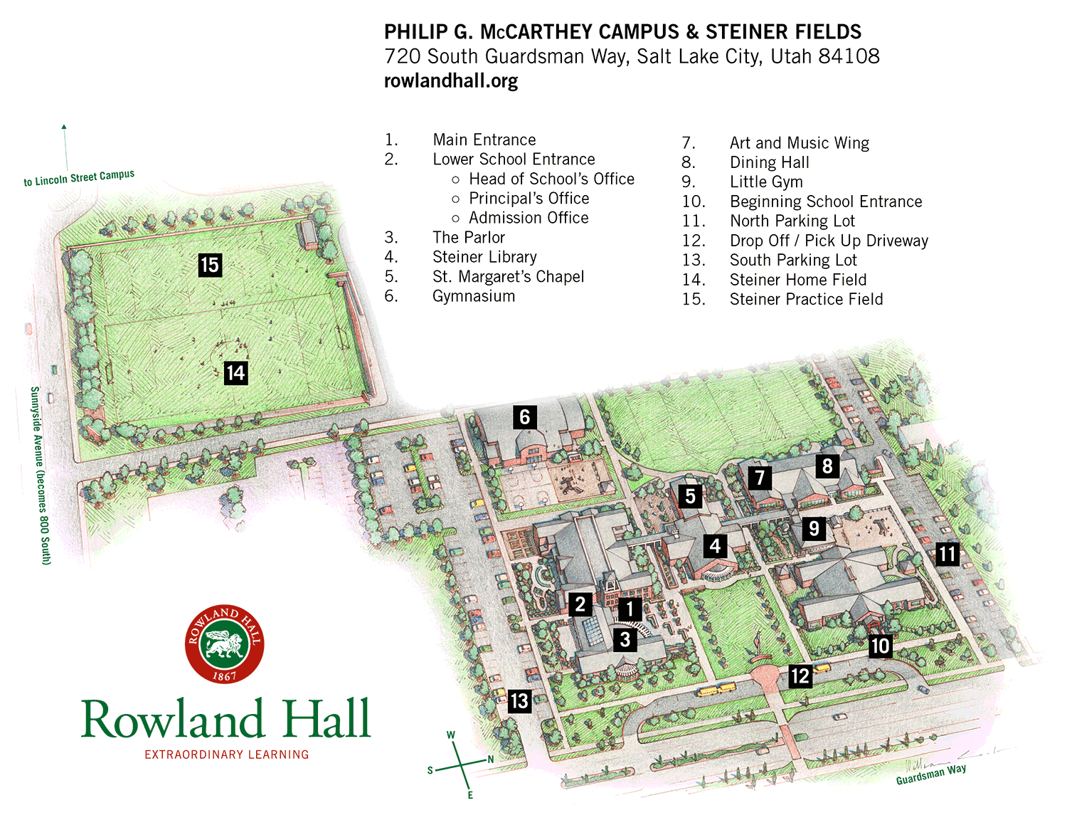 McCarthey Campus map