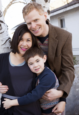 Christina Lau Billings and family